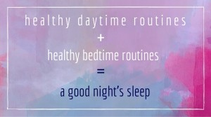 healthy daytime routinesthe 1-day