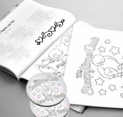 Sleepytime Club Coloring Book plus Recordings