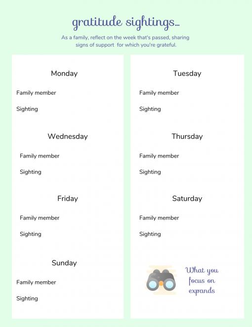 family meeting toolkit gratitude